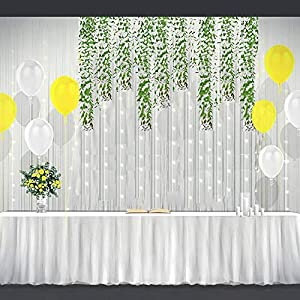 8pcs(40 Stems) Artificial Ivy Vines Plant Fake Greenery Garland Willow Leaves Artificial Hanging Wicker Willow for Wedding Party Home Garden Wall Decoration 3