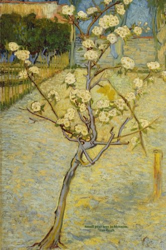 Small pear tree in blossom: Van Gogh, Lined/ ruled journal ( notebook, composition book) 160 pages, 6x9 inch (15.24 x 22.86 cm) Laminated ebook
