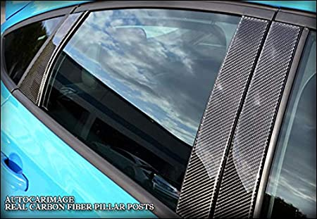 B Pillars AUTOCARIMAGE Real Black Carbon Fiber Pillar Posts Covers for Hyundai EQUUS 10 11 12 13 14 15 16 17 18 19-6 Pieces