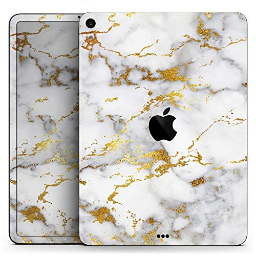 Marble & Digital Gold Foil V7 - Full Body Skin Decal for The Apple iPad Pro 12.9-inch 3rd gen - (A1876/A1895/A2014)