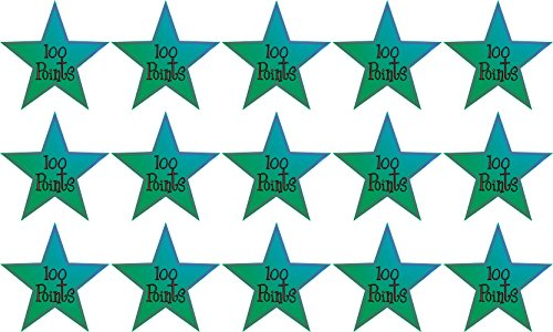 1inX1in 15x 100 Points Club School Star Sticker Vinyl Reward Sticker Decals by StickerTalk