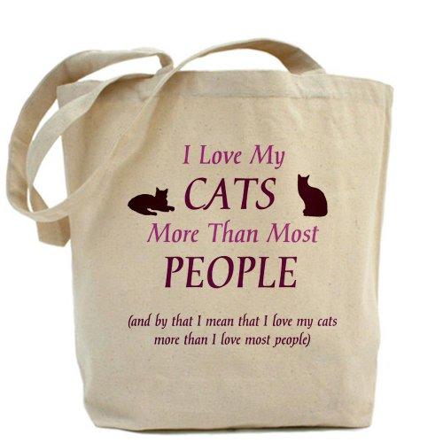 CafePress–I Love My gatos 2–Gamuza de bolsa de lona bolsa, bolsa de la compra