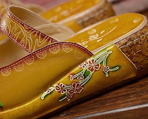 Yellow Leather Women's Women's Slippers Laruise Slippers Leather Women's Yellow Laruise Yellow Slippers Leather Laruise OqdfYYw