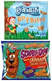 Keebler Graham Bug Bites and Scooby Snacks - Fun Bite size Animal Crackers Individual Package Variety Set - 10 of Each (Set of 20)