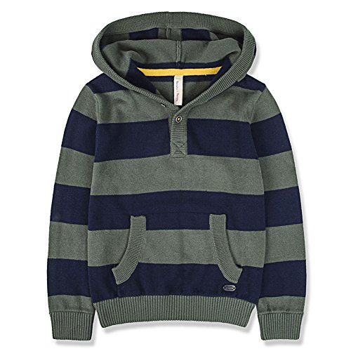 3 Button Ribbed Hoodie - 5