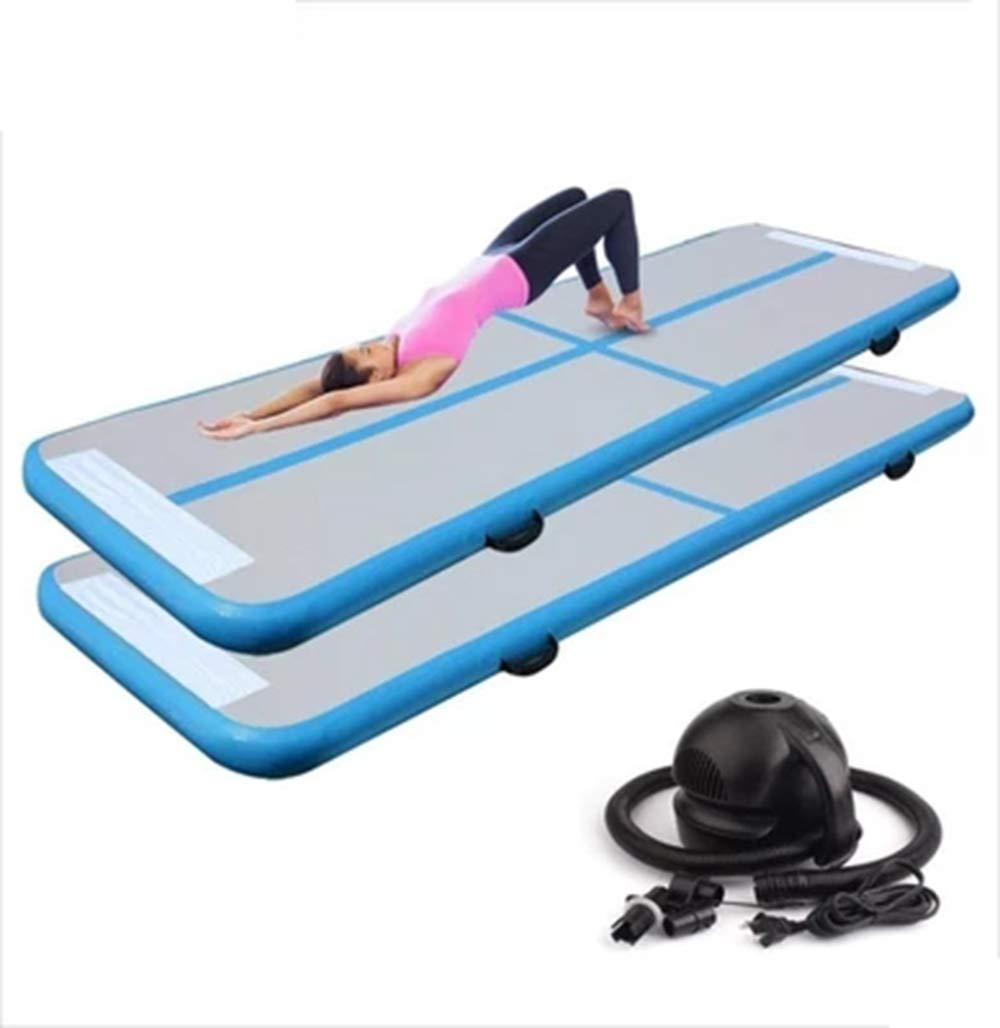 LOSITA Bule Multifunctional Inflatable Gymnastics Mattress, Taekwondo Somersault, Wire Drawing Yoga mat PVC Inflatable Water Thickening Yoga mat by LOSITA
