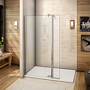 Mamparas de Ducha Panel Fijo + Lateral Movible 8mm Antical Barra 140cm - 50x40x200cm: Amazon.es: Bricolaje y herramientas