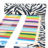 Everun Canvas 48 Holes Pencil Wrap, Travel Drawing Coloring Pencil Holder Roll Organizer for Artist, School and Office Pencils Pouch Case Hold for 48 Colored Pencils (No Pencils Included)