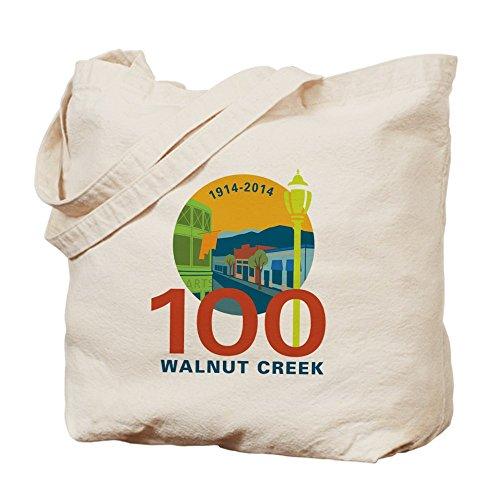 CafePress - Walnut Creek 100 - Natural Canvas Tote Bag, Cloth Shopping - Creek Shopping Walnut