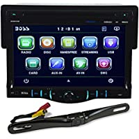 New Boss BV8970B 1 Din 7 Monitor DVD Bluetooth Receiver+License Plate Camera