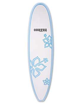 Cortez tablas de surf Funboard tabla de surf 7 ft 6 – azul flores