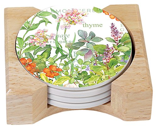 Counter Absorbent Coasters Culinary Wooden