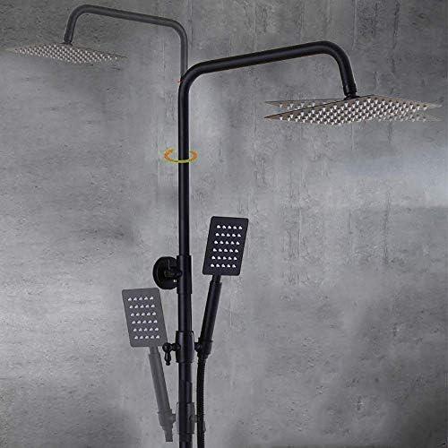 BZM-ZM ハンドシャワースプレーとシステム、ハンドヘルドコンプリートセット、3-機能浴室のシャワー蛇口セット、高圧トップ・レインシャワーヘッドバスタブミキサータップシャワー