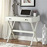 Carolina Chair and Table Alice Flip Top Desk Off-White Antique