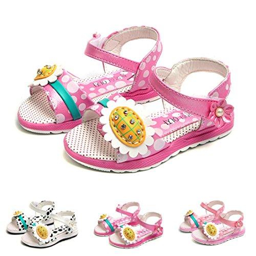 IGEMY Baby Mädchen Dot Sandalen, Kleinkind Kinder Floral Casual einzelne Schuhe Beige