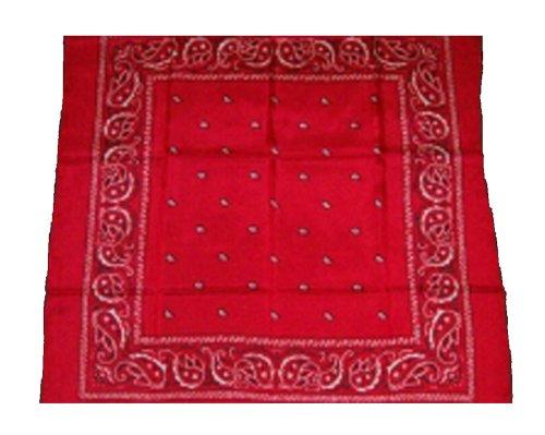 Wyoming Traders Mens Bandana Silk Wild Rag Scarf - Red Rag