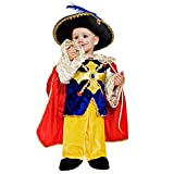 Child Costume Musketeer Aramis D'Artagnan France Nobleman Knight Carnival Royal Guard (92)