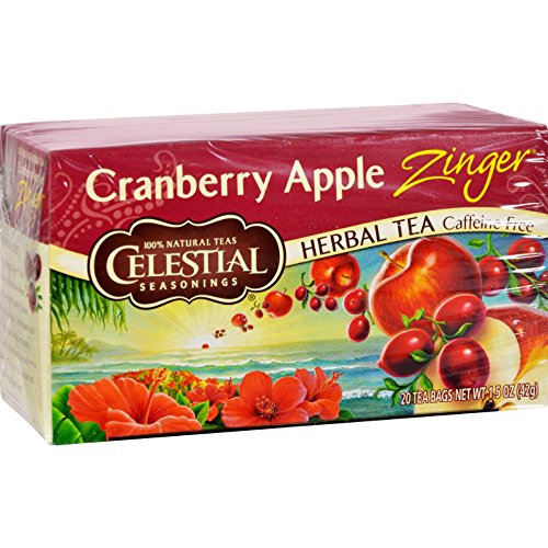 Herb Apple Cranberry Tea (Celestial Seasonings Herbal Tea - Cranberry Apple Zinger - Caffeine Free - Natural - 20 Bags (Pack of 2))