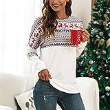Womens Long Sleeve Christmas Print T-Shirt Color