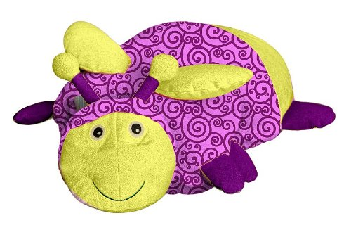 Everest Toys Zoobies Glow Bugs - Flicker The Firefly Plush (Soft Plush Zoobies Toy)