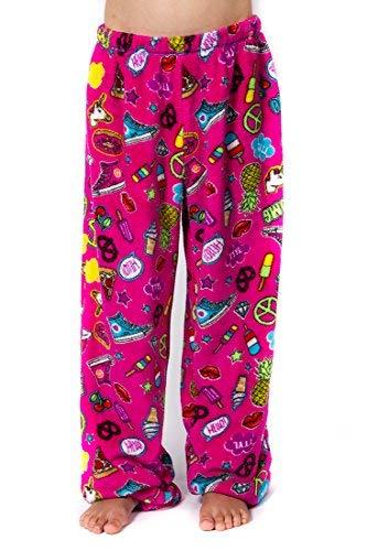 Peace Love & Fashion Girl's Emoji Pants – Pink (Medium)