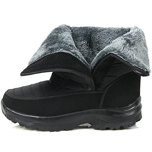 Nuevas Botas Impermeables Impermeables Comfort Velcro Para Mujer Winter Snow Warm Black