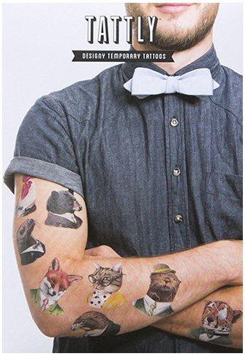 Tattly Temporary Tattoos Animal Society Set, 1 Ounce