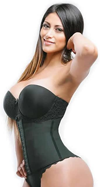 Women Latex Rubber Body Shaper Train Waist Cincher Underbust Corset Shapewear MO