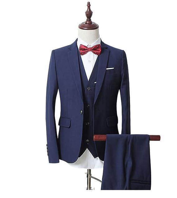 Aokaixi - Traje - para Hombre Azul Azul Marino 46EU - Chaqueta 29adc181399