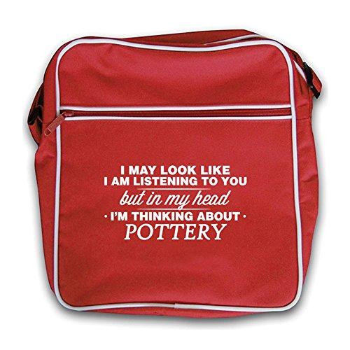 Bag I'm Pottery In My Red Head Flight Retro TqxYEx