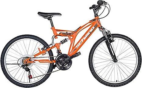 F. lli Schiano Rider Full Suspensión Shimano Bicicleta Hombre, Hombre, Rider Full Suspension Shimano, Naranja/Blanco: Amazon.es: Deportes y aire libre
