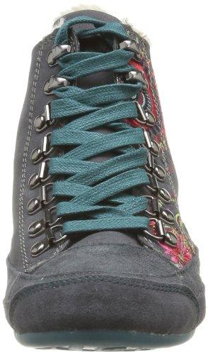 Desigual Sneakers Lili-3 - Altas de cuero mujer gris - Grau (Cemento 2012)