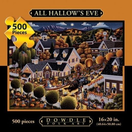 Dowdle Folk Art 500 Piece Puzzle All Hallow's Eve 16