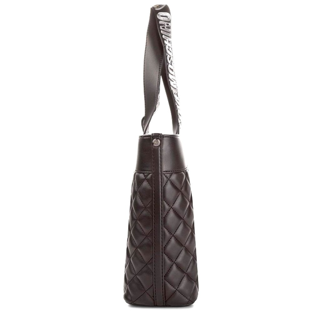LOVE MOSCHINO Quilted Tote with Gold Metallic Logo Handles, Black by MOSCHINO (Image #4)