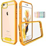 TOTU Ultra Slim Crystal Clear Case for iPhone 6/6S 4.7-Inch - Orange/Yellow