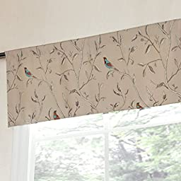 Flamingo P Gray Birds Window Curtain Valance 51\