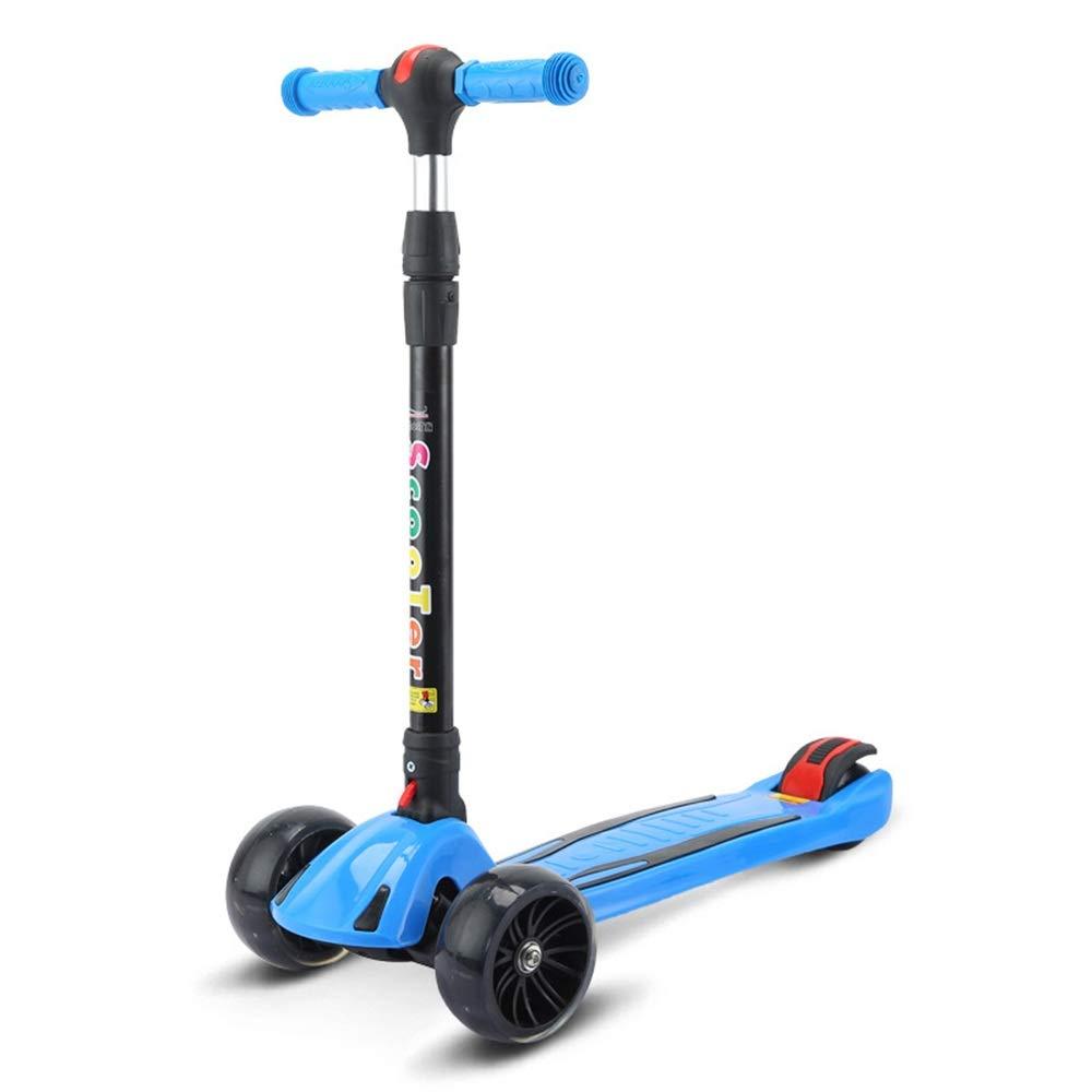 キックスクーター 子供のためのスクーター3つの車輪のTバー調節可能な高さのハンドルのグライダーの車輪が付いているスクーター5から14歳までの子供のための広いデッキ 青 B07Q3ZCYHH 青 B07Q3ZCYHH, テニスプロショップラフィノ:311cedfb --- app.offersprout.com