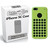 Cable And Case Slim Rubber Case for iPhone 5C-  One Green Case