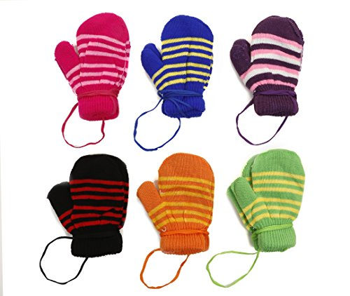 Toddler Magic Acrylic Insulated Mittens 6 - Pack,Multi color,One ()