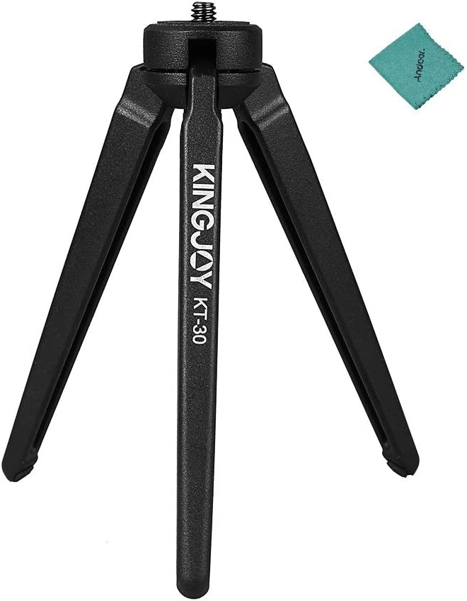 KINGJOY Portable Mini Desktop Tripod Compatible with Cameras DSLR Camcorder Compatible with Stabilizers of ZHIYUN FEIYU HOHEM MOZA