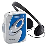 Craig CS2301A Personal AM/FM Stereo Radio Cassette Player with Headphones