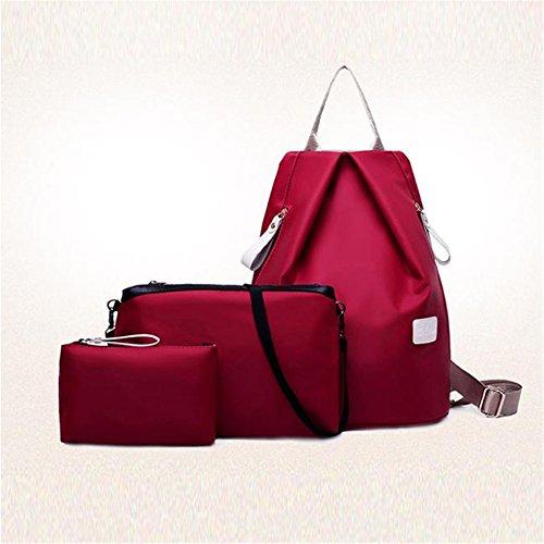 impermeabile Donna di Borsa Oxford Longra tre pezzi Rosso tessuto RUqwSWvx4