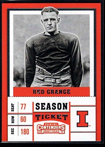 Illinois Grange Red - 2017 Contenders Draft Picks Season Ticket #83 Red Grange Illinois Fighting Illini