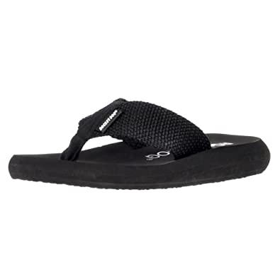 b1c4d0e47139 Rocket Dog Women s Sunset Webbing Flat Flip Flops Black UK3 - EU36 - US5 -  AU4
