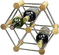 Botellero madera Nogal Botellero de Diseño para 6 Botellas con Asa