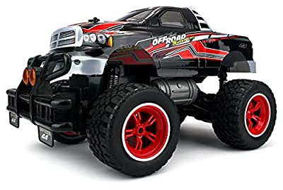 Big Size Hobby RC Off Road Truck V-Thunder Pickup Rechargeable Remote Control Truck Big 1:14 Scale Size Off Road Series RTR w/ Working Suspension, Spring Shock Absorbers (Colors May Vary)