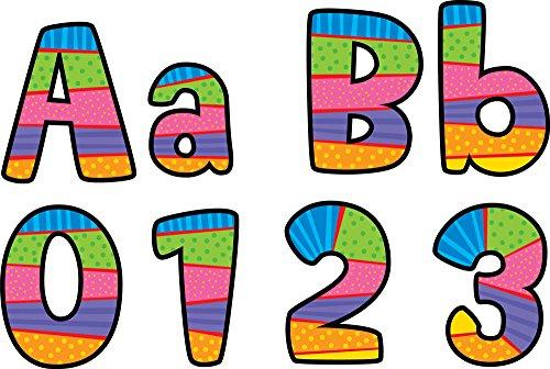 Creative Teaching Press Poppin' Patterns 4-Inch Playful Patterns Designer Letters - Designer Outlet Boutique