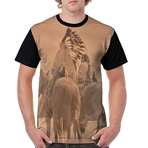 Judian T Shirts For Men Jersey Baseball Tshirt Men Native American Cheyenne Warrior's Back View - Cheyenne Indian Print