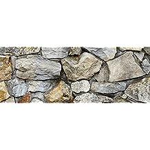 "Silver Medley Rock / HD Stone Aquarium Background 21"" x 72"" / Rocky Fish Tank Background"