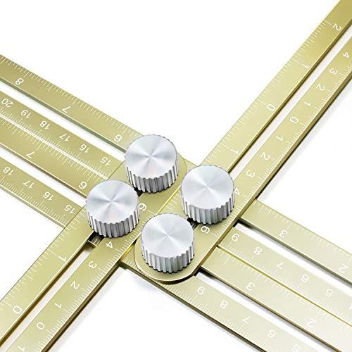 - Wondruz Multi Angle Measuring Ruler, Premium Aluminum Alloy Ultimate 836 Template Tool/Layout Tool Measurement for Handymen, Builders, Craftsmen, DIY-ers (Golden)